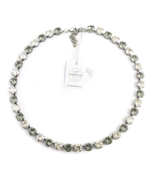 Krikor Grijs collier met Swarovski kristallen
