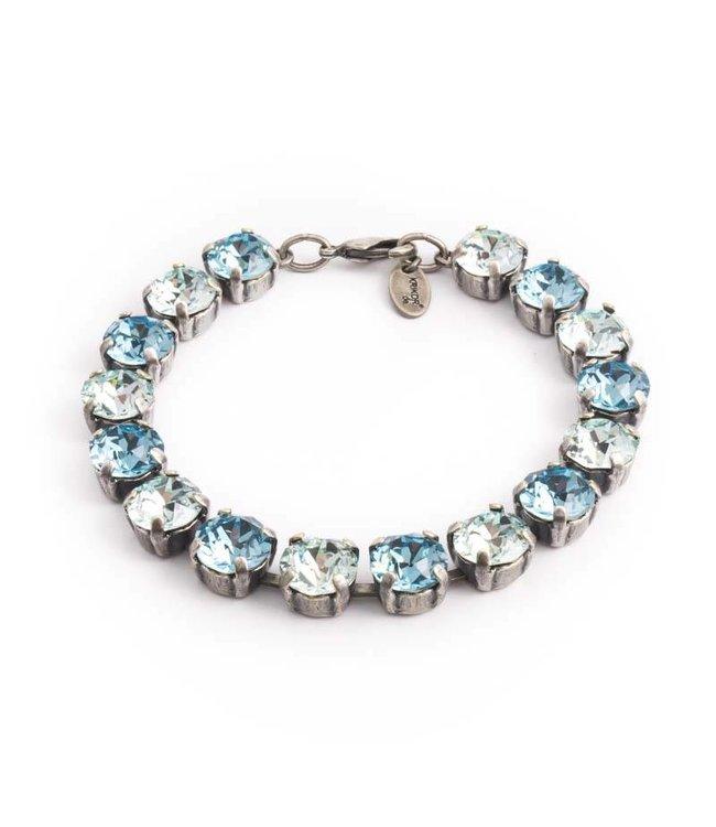 Krikor Licht blauwe armband met Swarovski kristallen