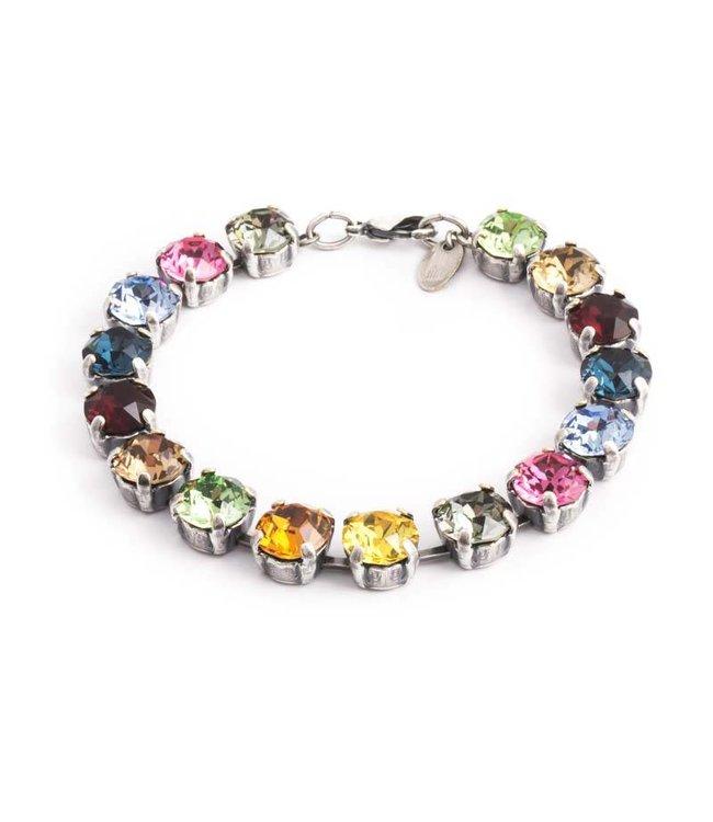 Krikor Meerkleurige armband met Swarovski kristallen