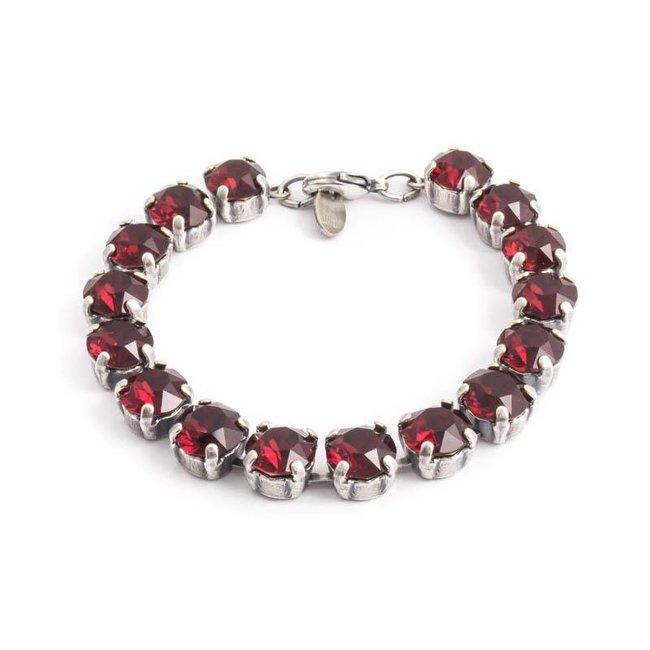 Robijn rode armband met Swarovski kristallen