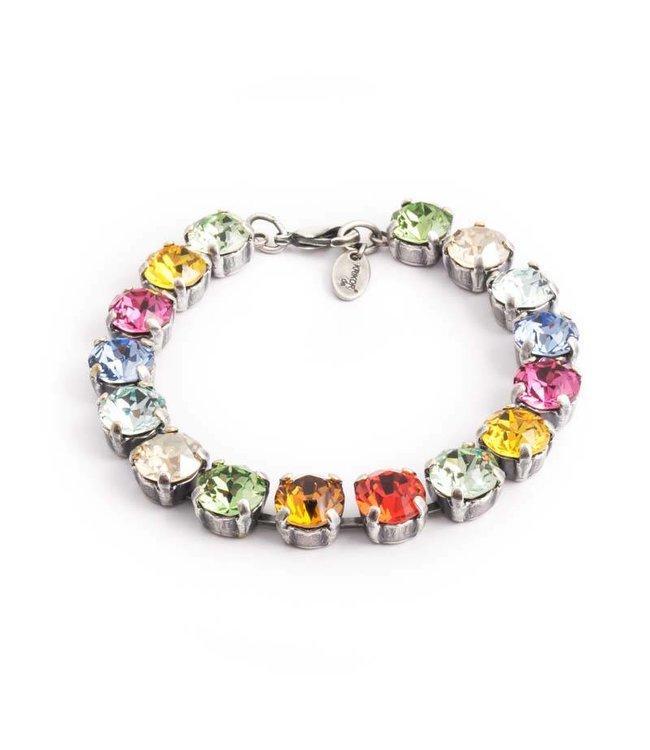 Krikor Meer kleurige armband met Swarovski kristallen