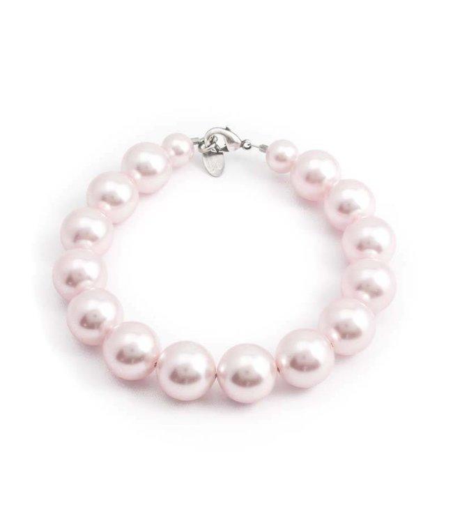 Krikor Roze parel armband met 12 mm rosalin parels