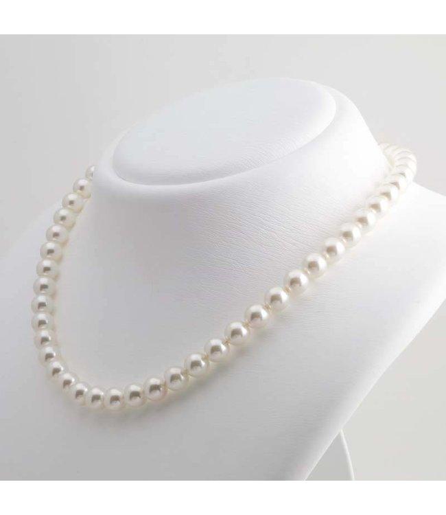 Krikor Witte parel ketting 8 mm cream pearl