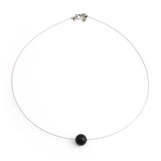 Krikor Zwarte parel ketting 10 mm