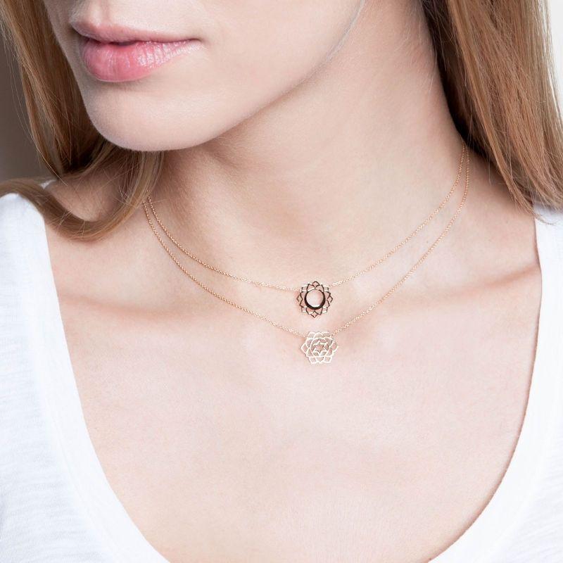 Tiny Om Anahata Necklace