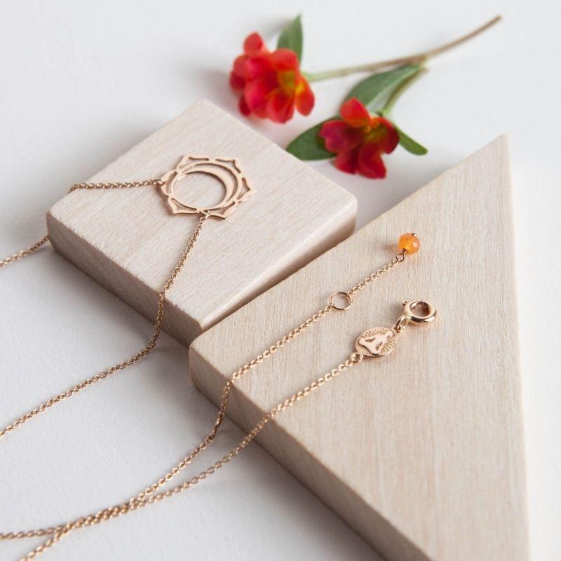Tiny Om Svadisthana necklace