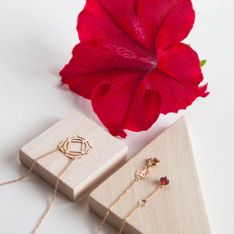 Tiny Om Muladhara necklace