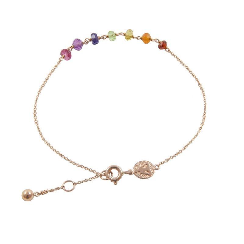 Tiny Om 7 Stones chakra bracelet<br /> Stones bracelet