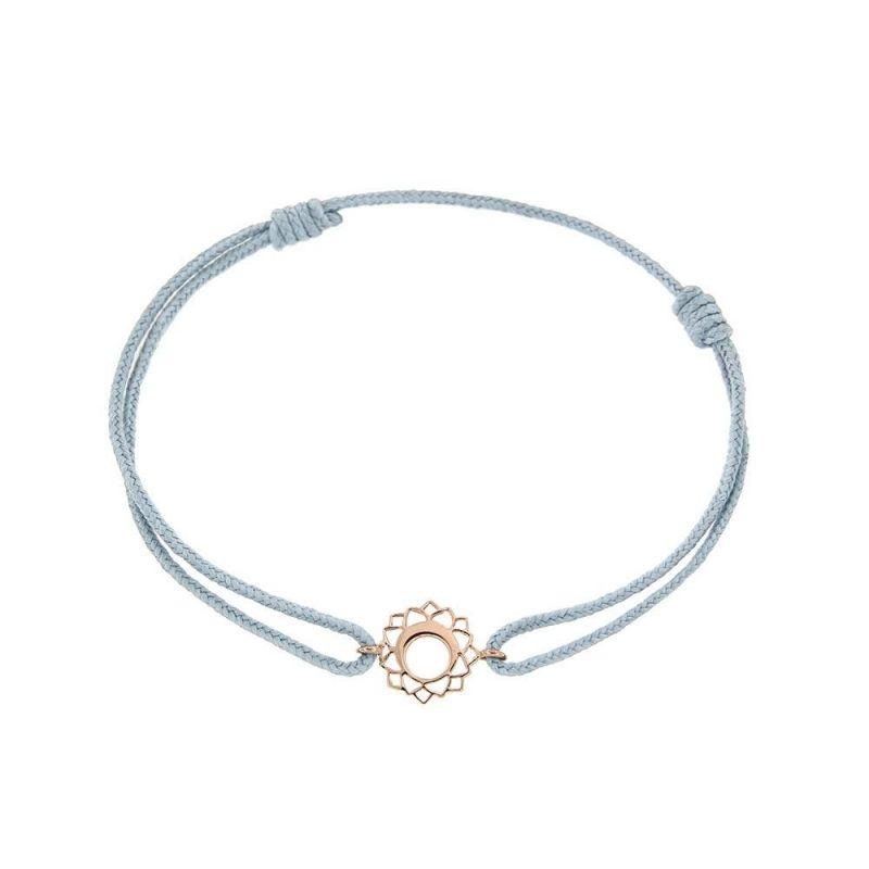 Tiny Om Chakra bracelet on thread Communication/Vishuddha
