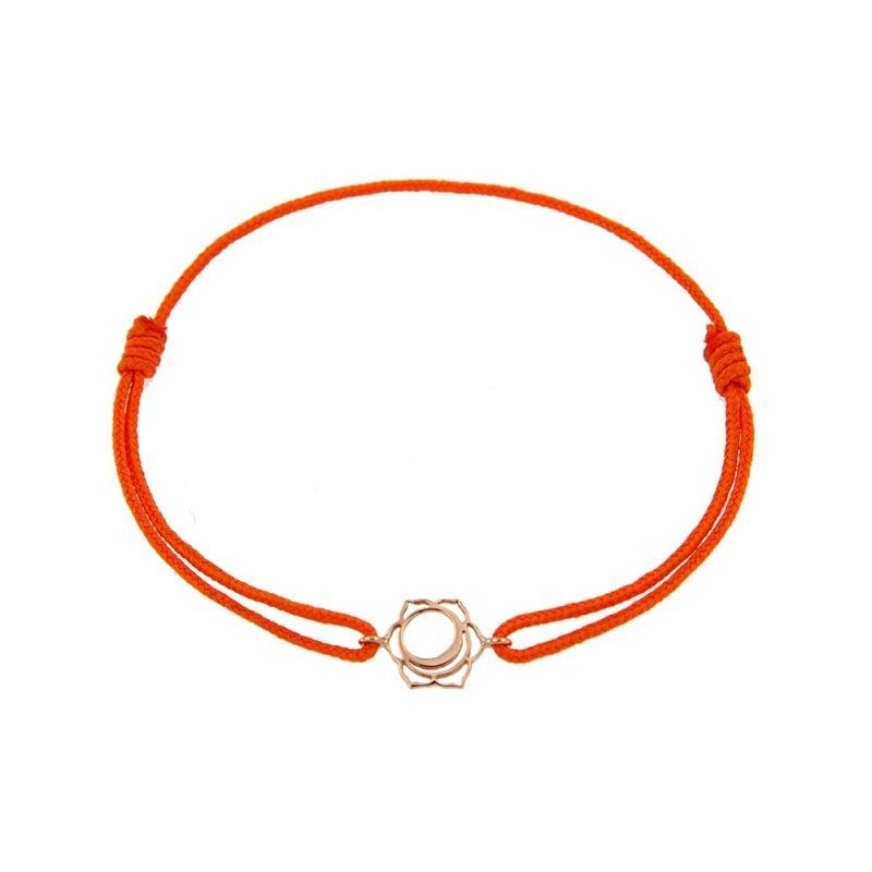 Tiny Om Chakra bracelet on thread Creativity/Svadisthana