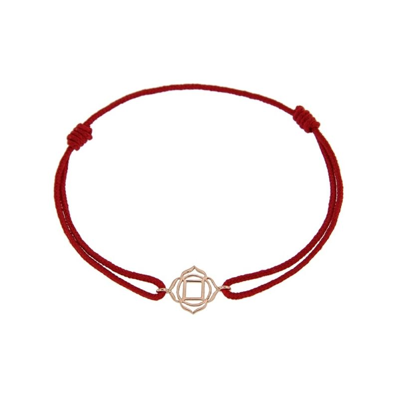 Tiny Om Chakra bracelet on thread Roots/Muladhara