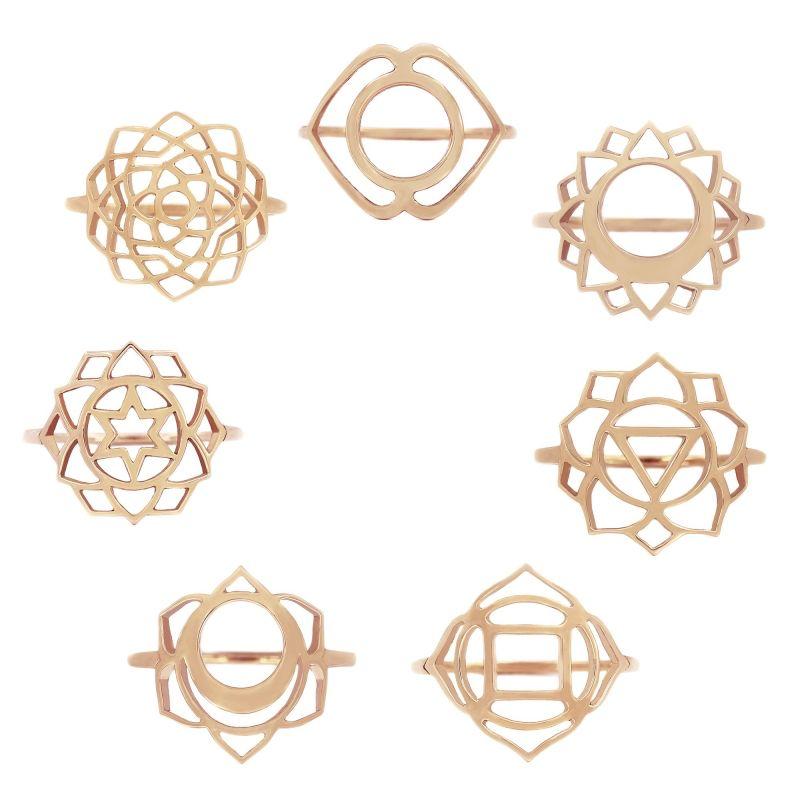 Tiny Om Medium chakra ring Unity/Sahasrara