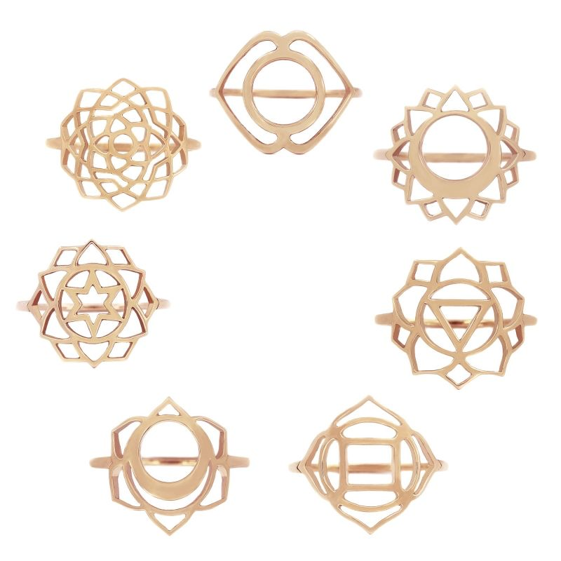 Tiny Om Medium chakra ring Communication/Vishuddha