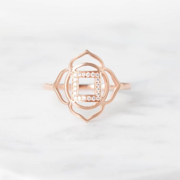 Muladhara paved diamonds ring