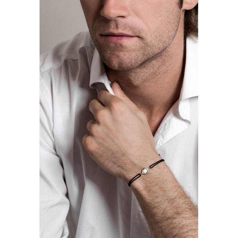 Tiny Om Serenity silver bracelet