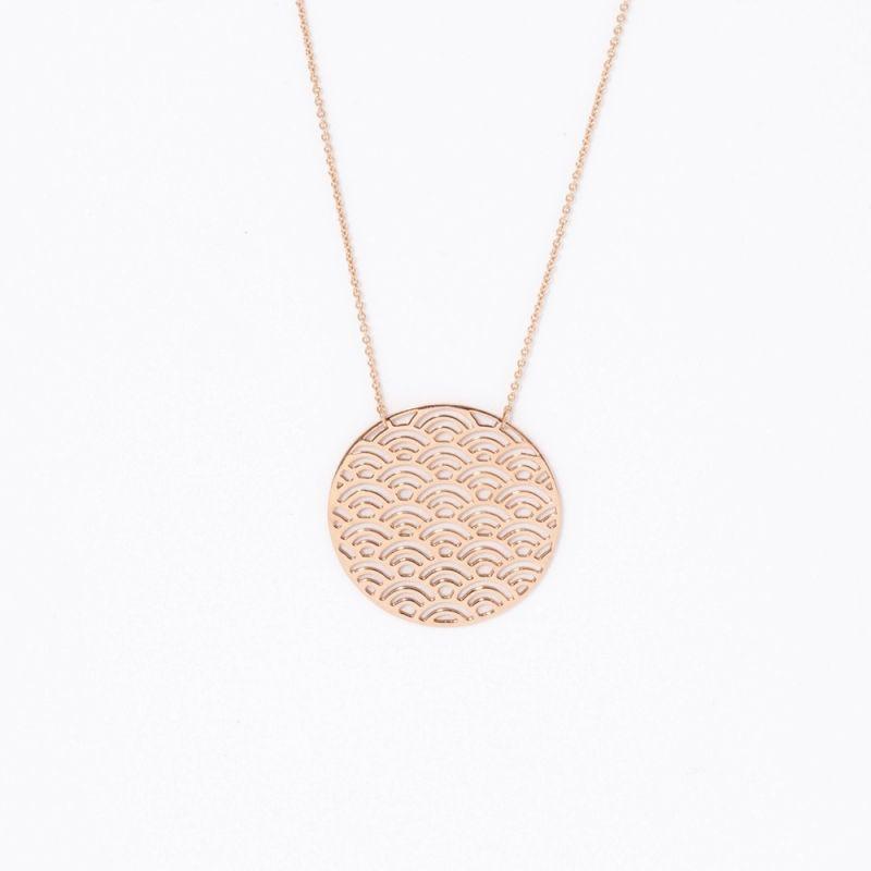 Tiny Om Wave necklace