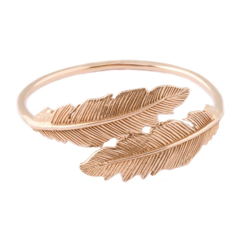 Tiny Om Feather ring