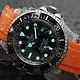 Everest EVEREST CURVED END RUBBER WITH TANG BUCKLE FOR ROLEX DEEPSEA (ORANGE)