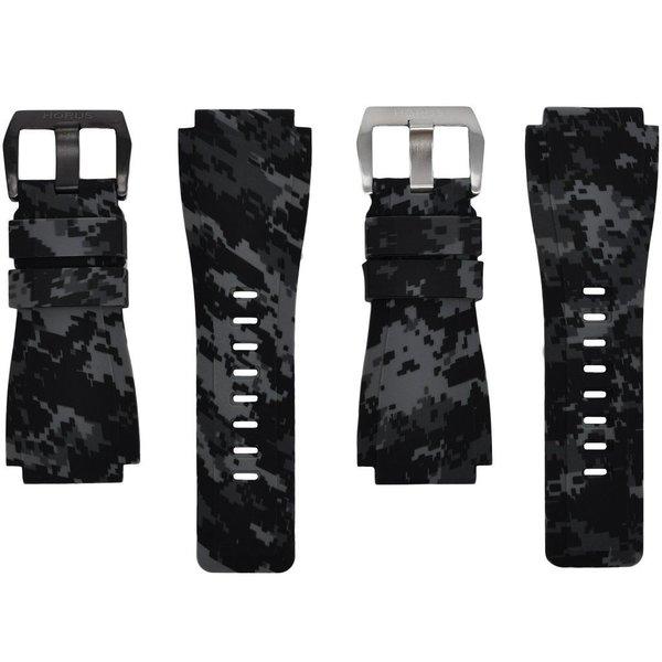 Horus Graphite Digital Camouflage Rubber Bell & Ross Strap