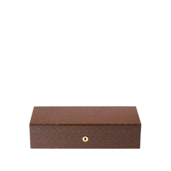 RAPPORT Heritage Herringbone 5 Watch Box