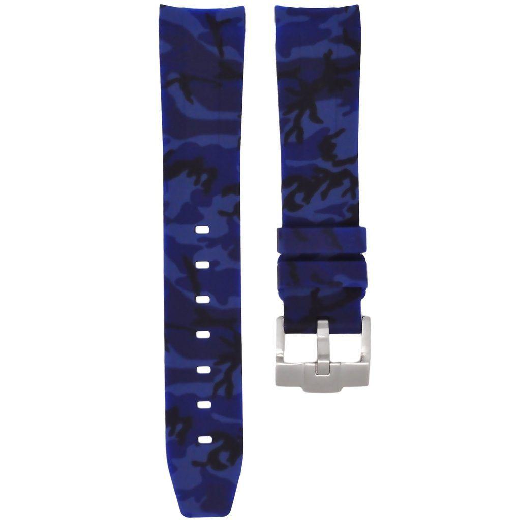 Horusstraps HORUS Navy Blue Camo Rubber Rolex Sport Model
