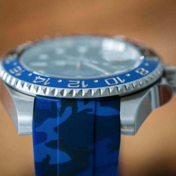 HORUS Rolex GMT Ceramic Navy Blue Camouflage Rubber Strap