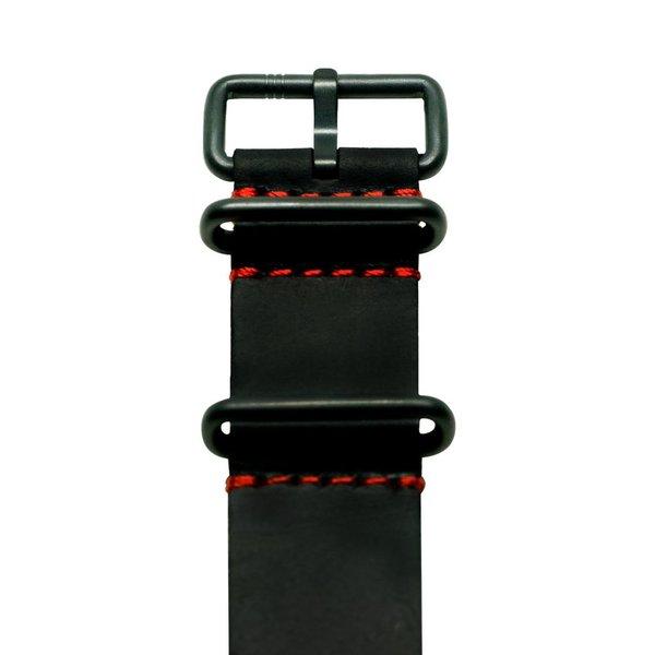 Elz-BLACK & RED NATO STRAP
