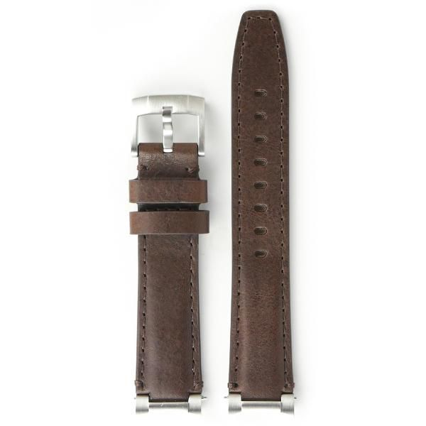 Everest EVEREST STEEL END LINK LEATHER STRAP (CHOCOLATE BROWN)