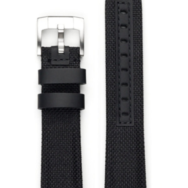 EVEREST CURVED END NYLON WITH TANG BUCKLE (BLACK)