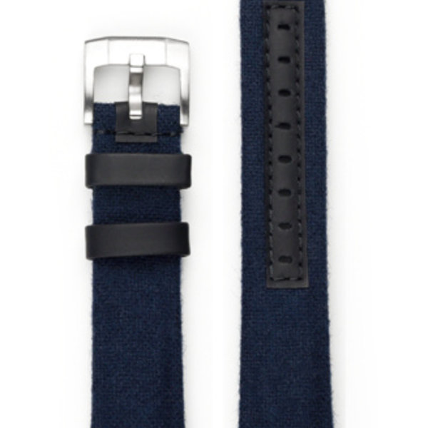 EVEREST CURVED END NYLON WITH TANG BUCKLE (BLUE)