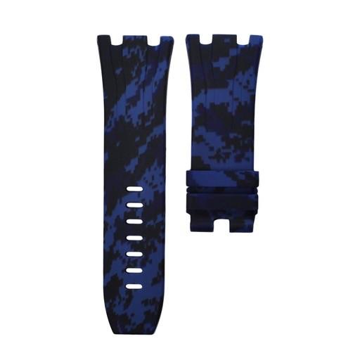 Horusstraps HORUS Navy Blue Digital Camo Rubber AP Offshore 44mm Strap