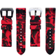 Horusstraps HORUS Red Camouflage Rubber Strap for Panerai