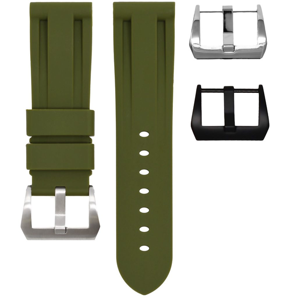 HORUS Olive Green Rubber Strap for Panerai