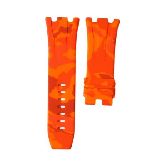 Horusstraps HORUS Orange Camo Rubber AP Offshore 44mm Strap