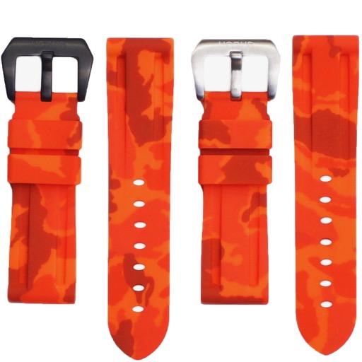 Horusstraps HORUS Orange Camo Rubber Strap for Panerai