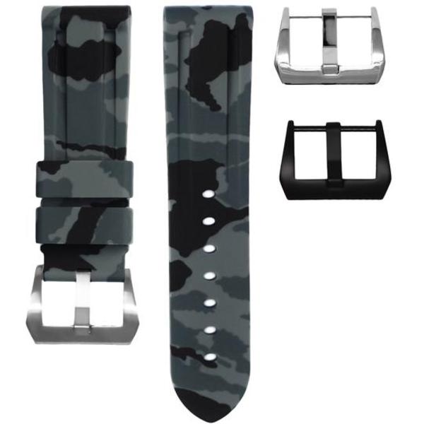 HORUS Graphite Digital Camo Rubber Strap for Panerai