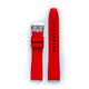 Everest EVEREST CURVED END RUBBER FOR ROLEX MILGAUSS,SD,AirKing WITH TANG BUCKLE-Red