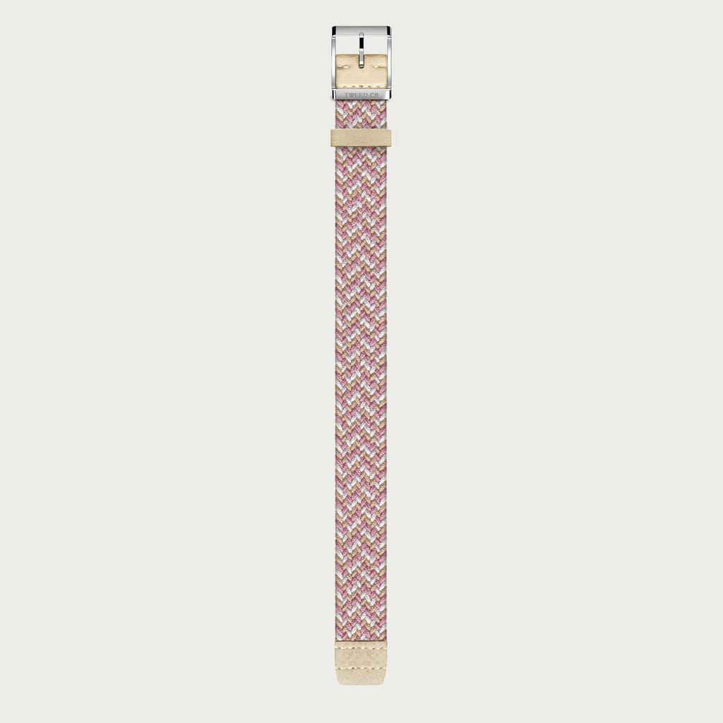 Tweed Co Strap ROSE - STEEL BUCKLE