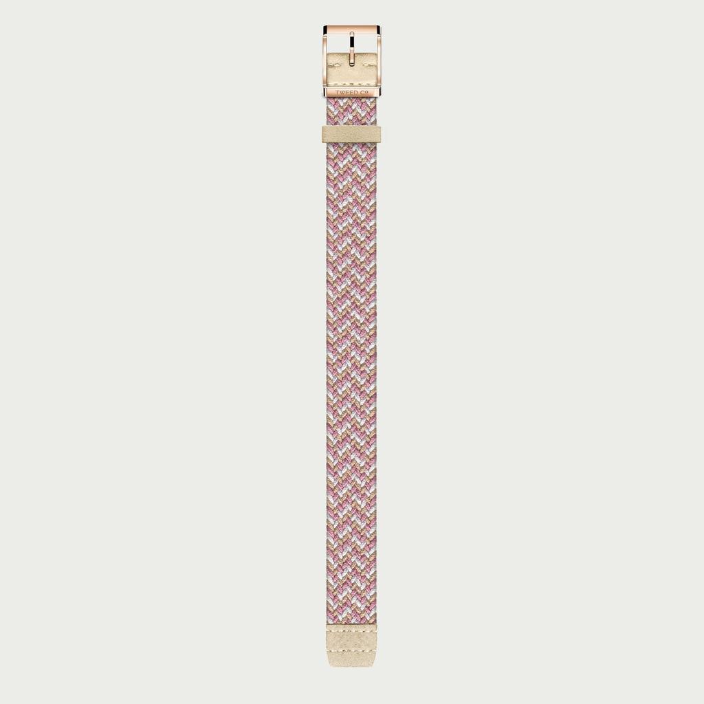 Tweed Co Strap ROSE - ROSE GOLD BUCKLE
