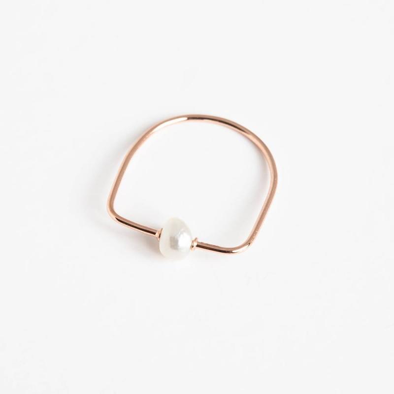 Tiny Om Pearl Ring