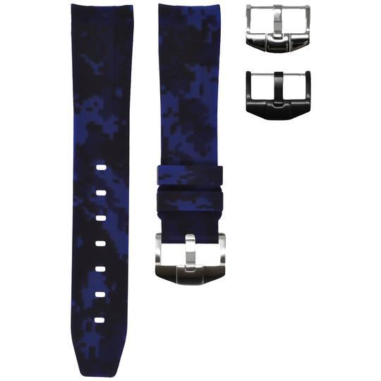 Horusstraps HORUS NAVY BLUE DIGI  CAMO RUBBER ROLEX SPORT MODEL
