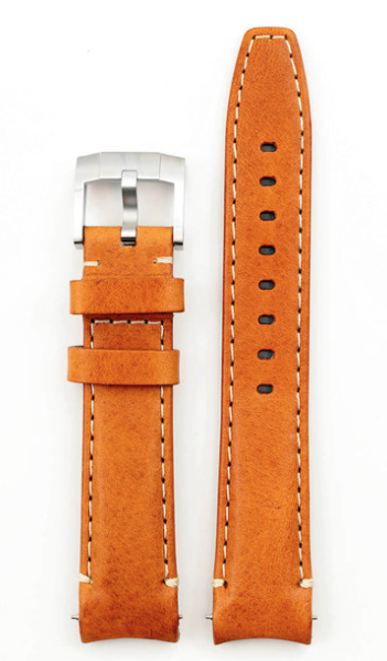 Everest EVEREST CURVED END LEATHER WITH TANG BUCKLE-TAN
