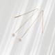 Tiny Om Pearl Long Earrings