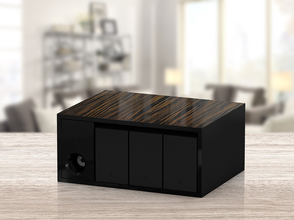 Boxy Triple BLDC Watch Winder For Use In A Safe