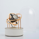 Bernard Favre Planet Double-Axis Gold, Silver with White leather base