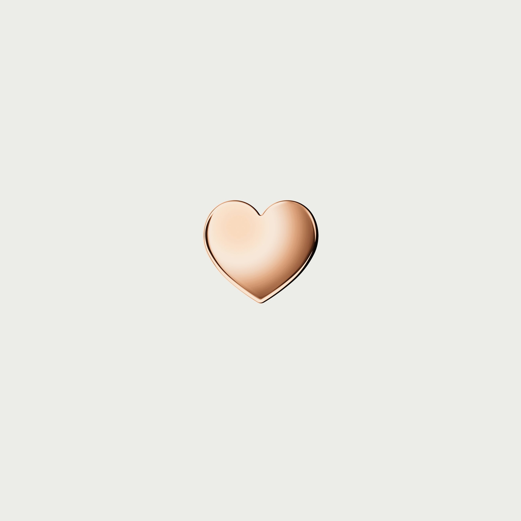 CHARM HEART ROSE GOLD PVD