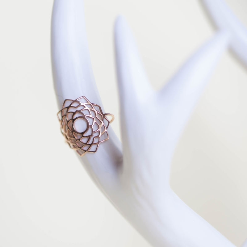 Tiny Om Sahasrara ring  Adjustable