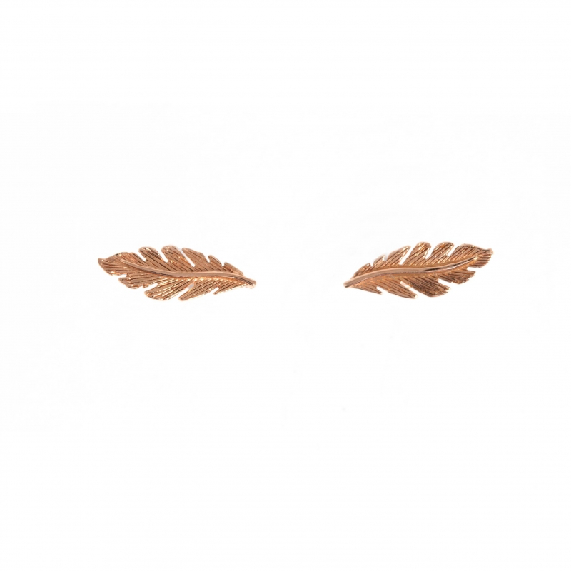 Tiny Om Feathers stud earrings