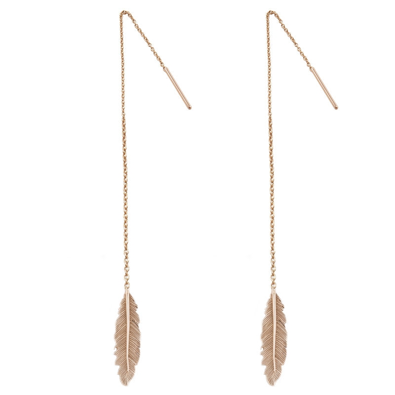 Tiny Om Feather earrings