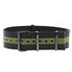Momentum Nato Strap Black/Green Single Striped